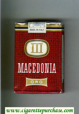 Macedonia Oro cigarettes soft box