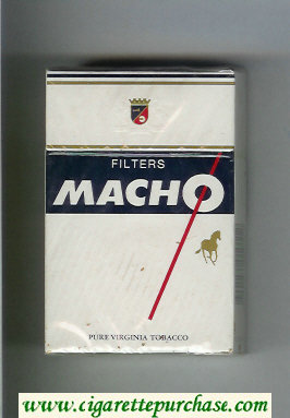 Macho Filters cigarettes hard box
