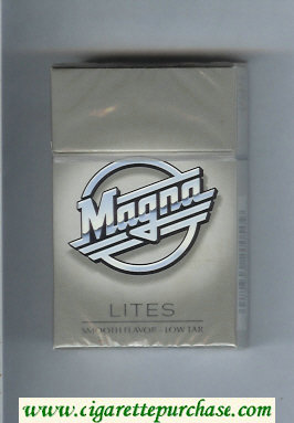 Discount Magna Lites grey cigarettes hard box