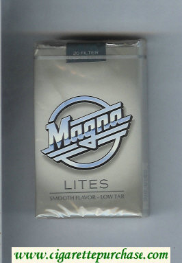 Discount Magna Lites grey cigarettes soft box