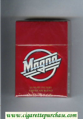 Discount Magna Luxury Filters American Blend red cigarettes hard box