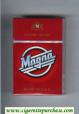 Discount Magna Luxury Filters Blend of USA red cigarettes hard box