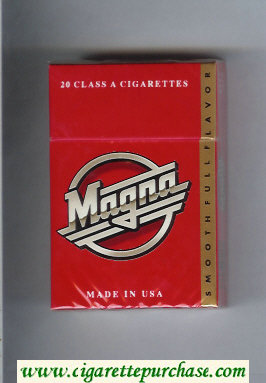 Discount Magna Smooth Full Flavor red and gold cigarettes hard box
