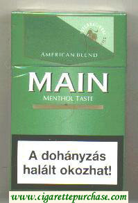 Main Action Filter Menthol Taste green cigarettes hard box