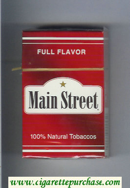 Main Street Full Flavor cigarettes hard box
