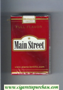 Main Street Full Flavor cigarettes soft box