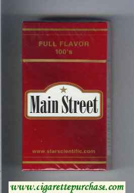 Main Street Full Flavor 100s cigarettes hard box