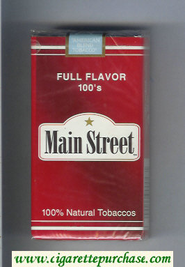 Main Street Full Flavor 100s cigarettes soft box