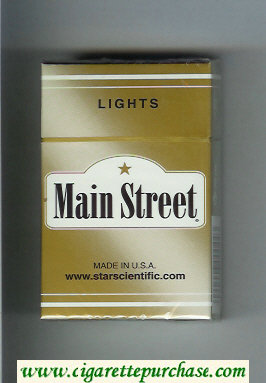 Main Street Lights cigarettes hard box