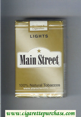 Main Street Lights cigarettes soft box