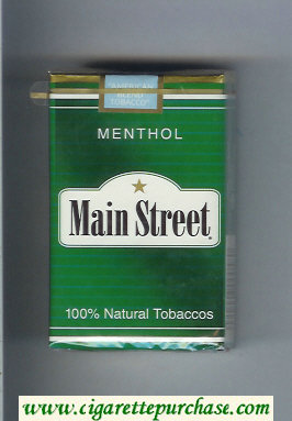 Main Street Menthol cigarettes soft box