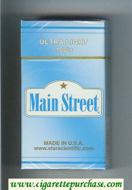 Main Street Ultra Light 100s cigarettes hard box
