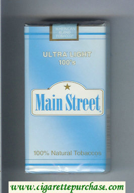 Main Street Ultra Light 100s cigarettes soft box