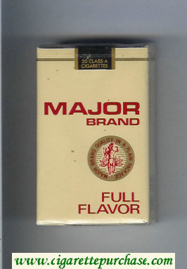 Major Brand Full Flavor cigarettes soft box