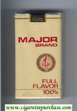 Major Brand Full Flavor 100s cigarettes soft box