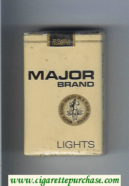 Major Brand Lights cigarettes soft box