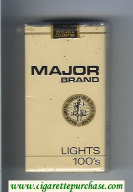 Major Brand Lights 100s cigarettes soft box