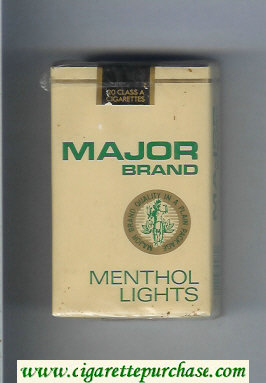 Major Brand Menthol Lights cigarettes soft box