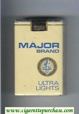 Major Brand Ultra Lights cigarettes soft box