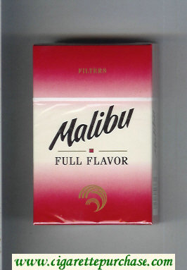 Malibu Full Flavor cigarettes hard box