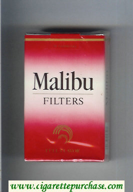 Malibu Filters Full Flavor cigarettes soft box