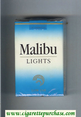 Malibu Lights cigarettes soft box