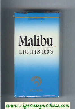 Malibu Lights 100s cigarettes soft box