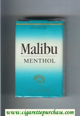 Malibu Menthol Full Flavor cigarettes soft box