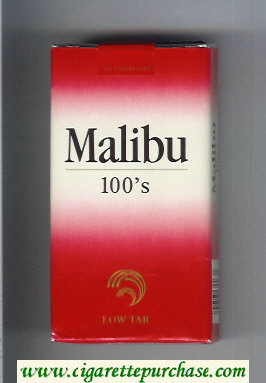 Malibu 100s cigarettes soft box
