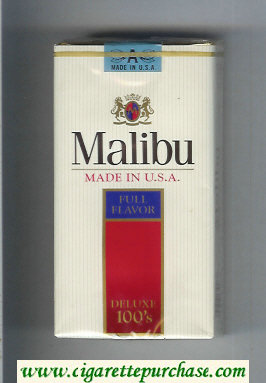 Malibu Full Flavor Deluxe 100s cigarettes soft box