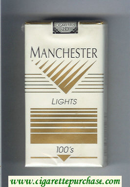 Manchester Lights 100s cigarettes soft box