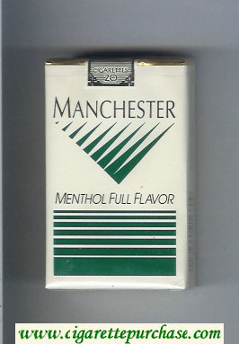Manchester Menthol Full Flavor cigarettes soft box