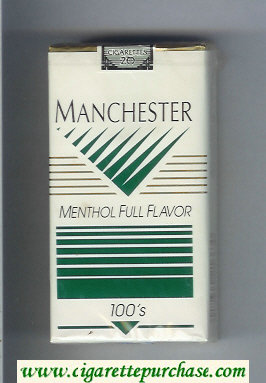 Manchester Menthol Full Flavor 100s cigarettes soft box