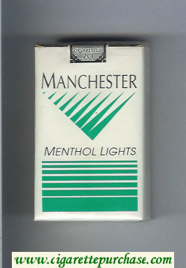 Manchester Menthol Lights cigarettes soft box