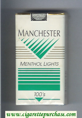 Manchester Menthol Lights 100s cigarettes soft box