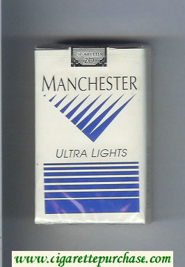 Manchester Ultra Lights cigarettes soft box