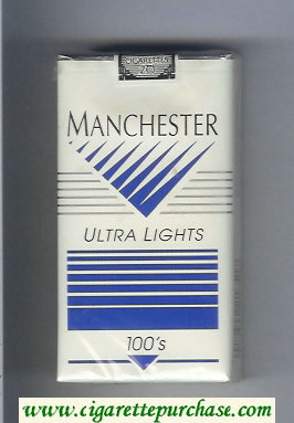 Manchester Ultra Lights 100s cigarettes soft box