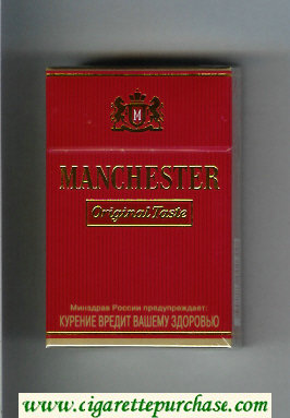 Manchester Original Taste cigarettes hard box