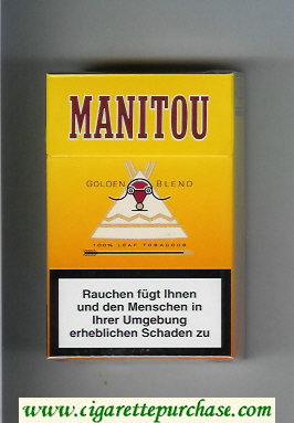 Manitou Golden Blend cigarettes hard box