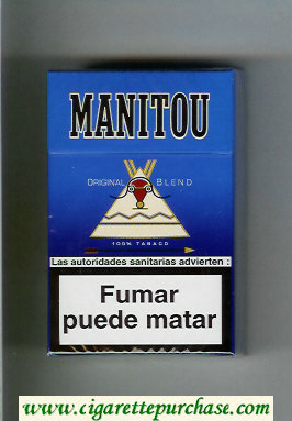 Manitou Original Blend cigarettes hard box