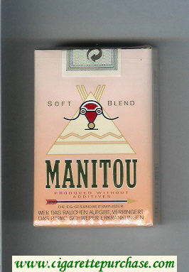 Manitou Soft Blend cigarettes soft box