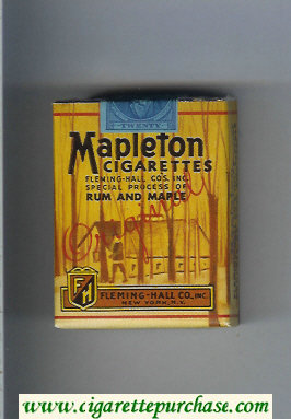 Mapleton Rum and Maple cigarettes soft box