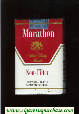 Marathon Non-Filter American Blend white and red cigarettes soft box