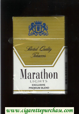 Marathon Lights Exclusive Premium Blend cigarettes hard box