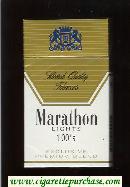 Marathon Lights 100s Exclusive Premium Blend cigarettes hard box