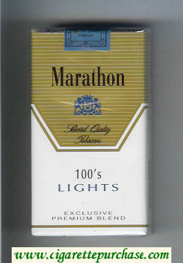 Marathon Lights 100s Exclusive Premium Blend cigarettes soft box