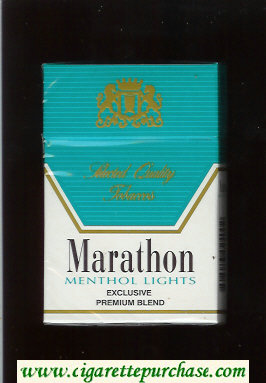 Marathon Menthol Lights Exclusive Premium Blend cigarettes hard box