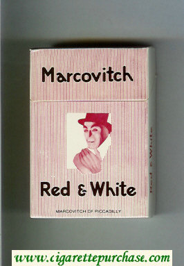 Marcovitch Red and White cigarettes hard box