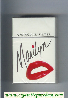 Marilyn Charcoal Filter cigarettes hard box