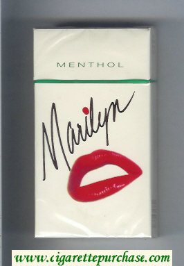Marilyn Menthol 100s cigarettes hard box